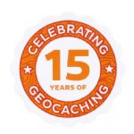 Official 15 (Fifteen) Years Of Geocaching Vinyl Sticker
